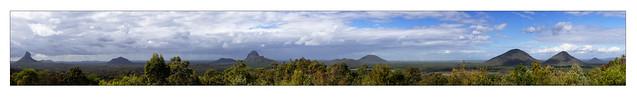 Glasshouse Mountains Panorama 1