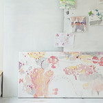Sakura no Uta to Nichiyobi (2019) oil on canvas、ink, charcoal, coloured pencil  1330x655x60mm