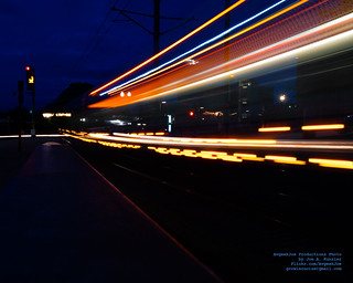 TACOMA LINK LIGHT STREAM IN THE BLUE HOUR
