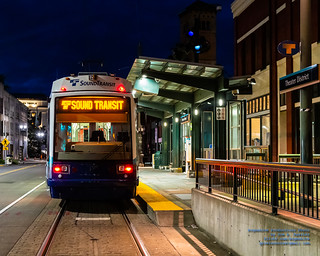 Sound Transit Tacoma Link at Theater District Station About to Start Last Run
