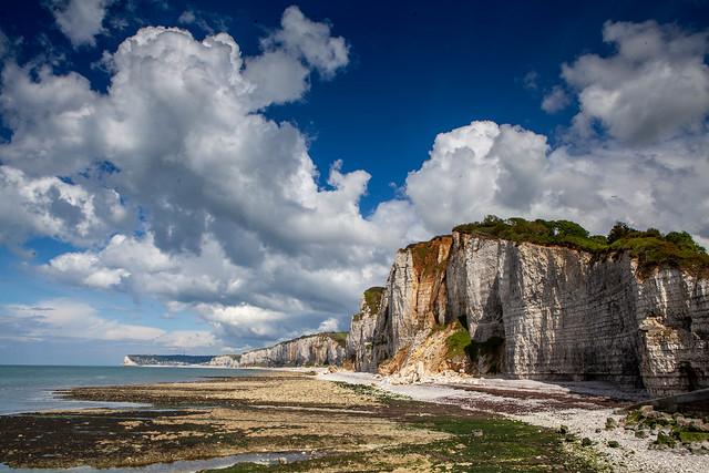 nuages sur les falaises, Yport, Normandie