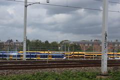 Approaching Amsterdam by rail