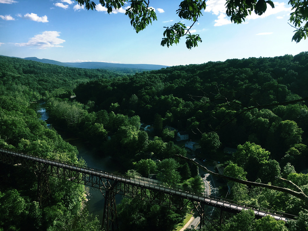 View of the Rosendale Trestle
