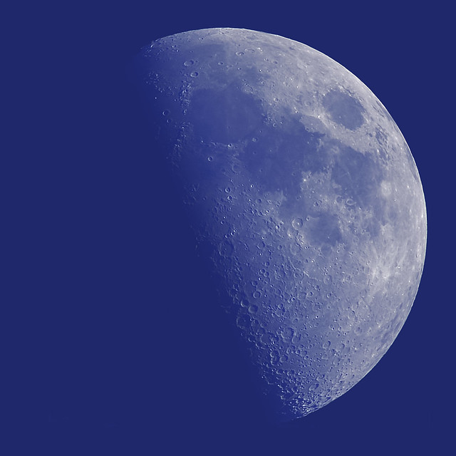 Daylight 1st Quarter Moon