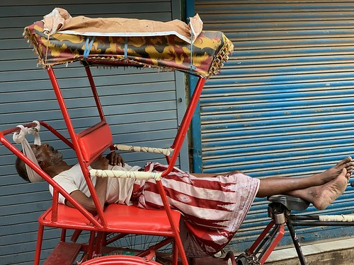 City Life - Rickshaw Puller Saroj Pal's Pillow, Central Delhi