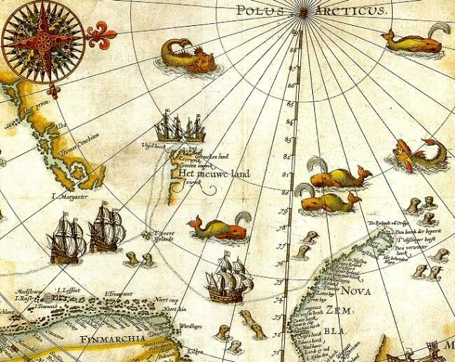 Barentz arctic map