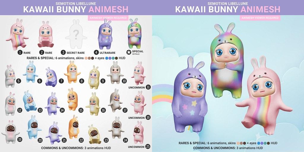 SEmotion Libellune Kawaii Bunny Babies Animesh