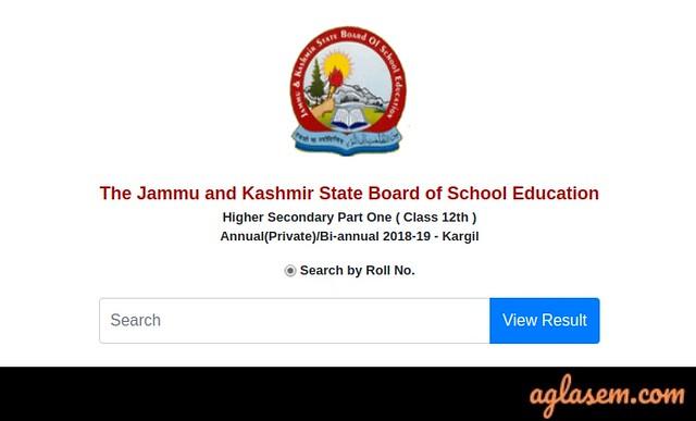 JKBOSE 12th Bi-Annual Kargil Division Result 2019