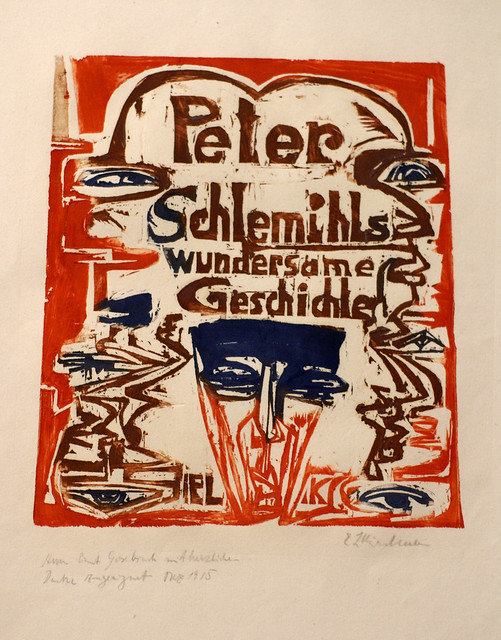 Ernst Ludwig Kirchner, Titelblatt zur Holzschnittfolge Schlemihl (Title page of the woodcut series Schlemihl)