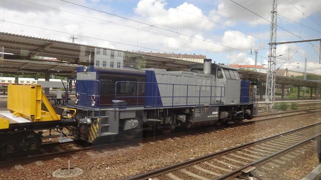 2000 dieselhydraulische Lokomotive G1206 von Vossloh Maschinenbau Kiel (MAK) Werk-Nr. 1001027 bei Fa. LOCON Bahnhof Lichtenberg in 10365 Berlin-Lichtenberg
