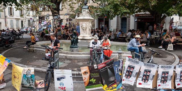 Les rues d'Avignon pendant le festival OFF d'Avignon 2019