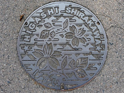Higashi-shirakawa Gifu, manhole cover (岐阜県東白川村のマンホール)