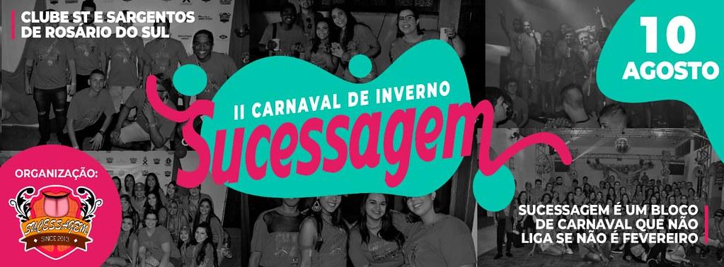 Vem aí o 2º Carnaval de Inverno do Bloco Sucessagem de Rosário do Sul - garanta sua camiseta!