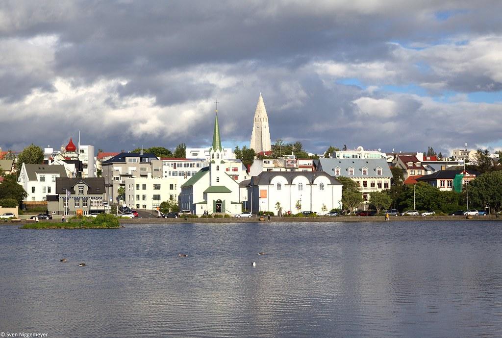 Fríkirkja und Hallgrímskirkja in Reykjavik am 4.07.19