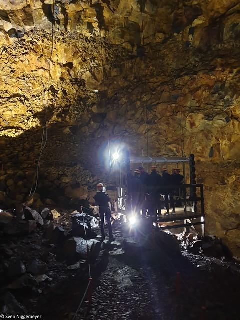 Gondel Im Inneren des Vulkans Þríhnúkagígur (5.07.19)