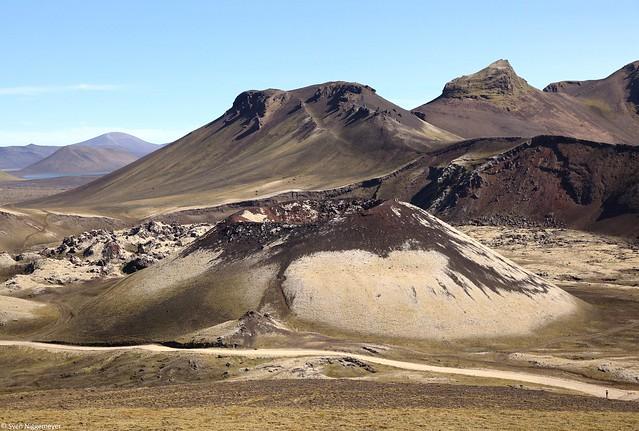 Gebiet Landmannalaugar (Krater) im Südwesten von Island am 6.07.19