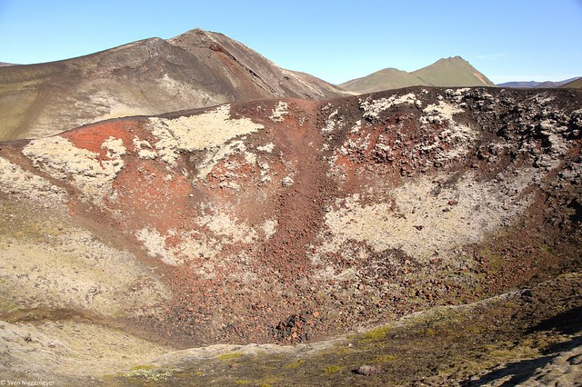 Gebiet Landmannalaugar (innerer Krater) im Südwesten von Island am 6.07.19