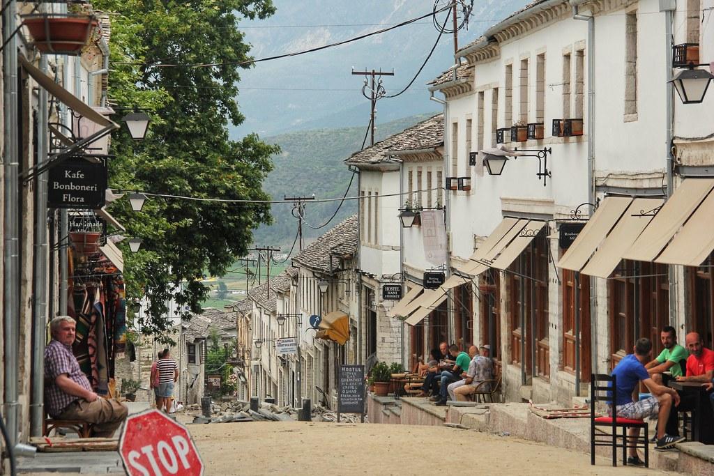 Streets of Gjirokaster, Albania