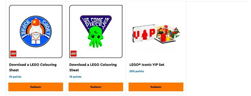 New LEGO VIP