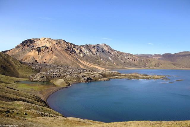 Gebiet Landmannalaugar im Südwesten von Island am 6.07.19