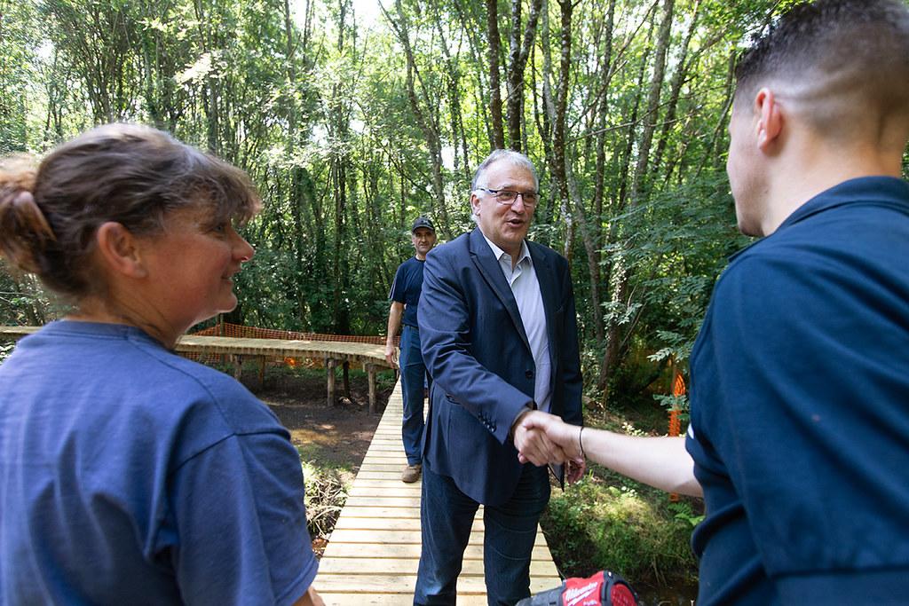 Création d'un itinéraire de randonnée autour de l'étang d'Aureilhan - Rencontre avec l'équipe opérationnelle