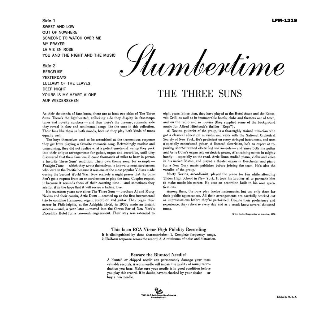 Three Suns - Slumbertime