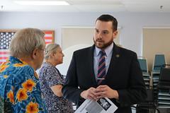 Reps. Chris Davis and Carol Hall hosted a legislative update at the East Windsor Senior Center