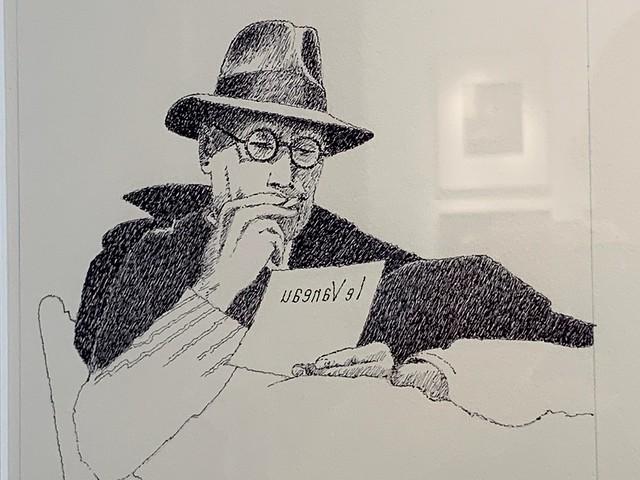 André Gide dessin de Georges Lemoine
