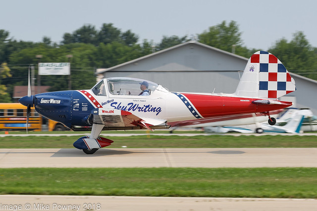 N260DC - 1956 build de Havilland Canada DHC-1 Chipmunk Mk.1b, arriving on Runway 27 at Oshkosh during Airventure 2018