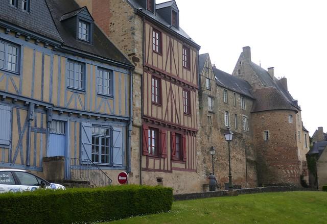 Sur les remparts, cité Plantagenêt, Le Mans, Sarthe, Pays de la Loire, France.