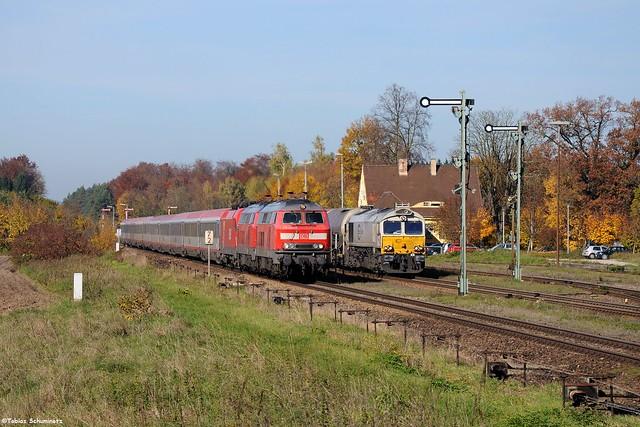 DB 218 404 + 247 057 | Tüßling | 26.10.2013