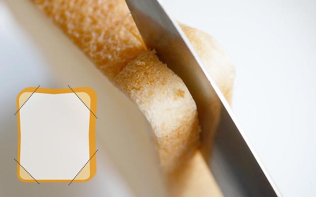市販の食パンを上手に半分にスライスする方法