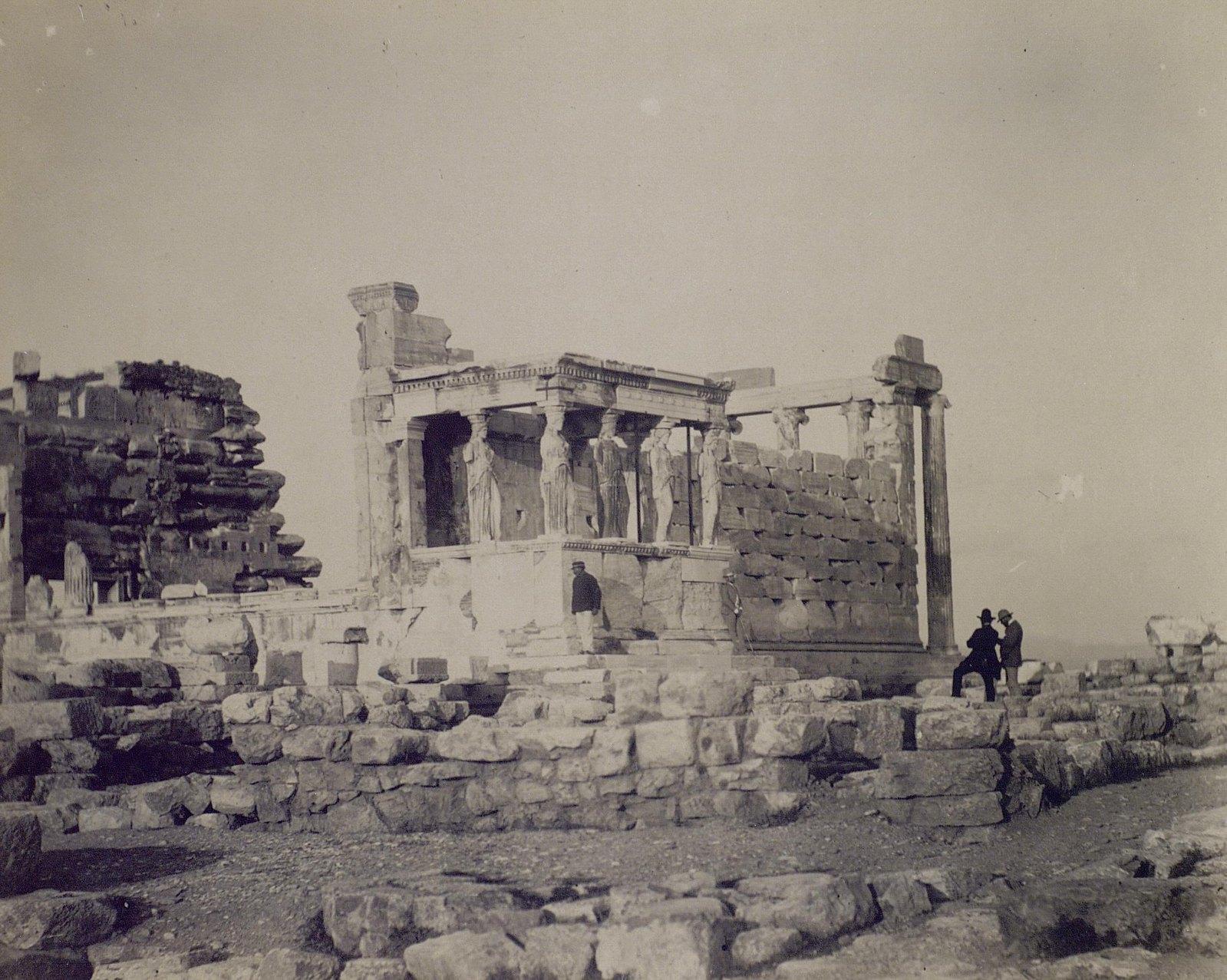 07. 1890. Греция. Вид храма Эрехтейон на Акрополе