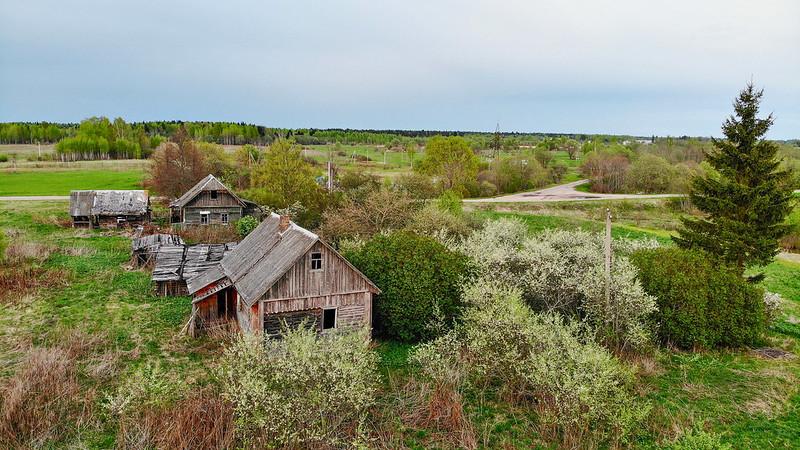 Деревня Алферово с высоты птичьего полета