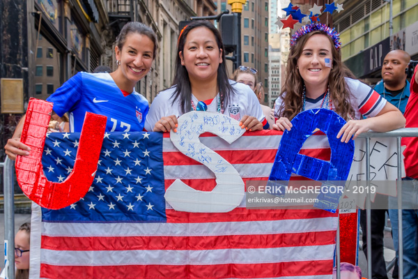 Ticker Tape Parade for the US Women's National Soccer Team