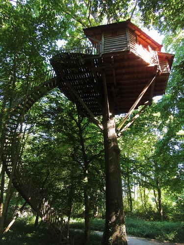 Treehouse on domain Coucoo Grands Chênes in Raray