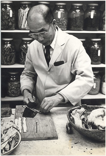 A herbalist in Vancouver's Chinatown circa 1974