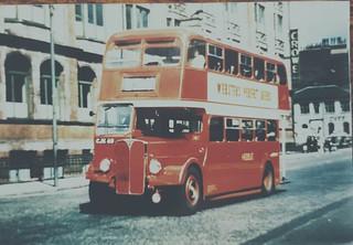 Hebble AEC Regent 9612A in Wellington Street Leeds
