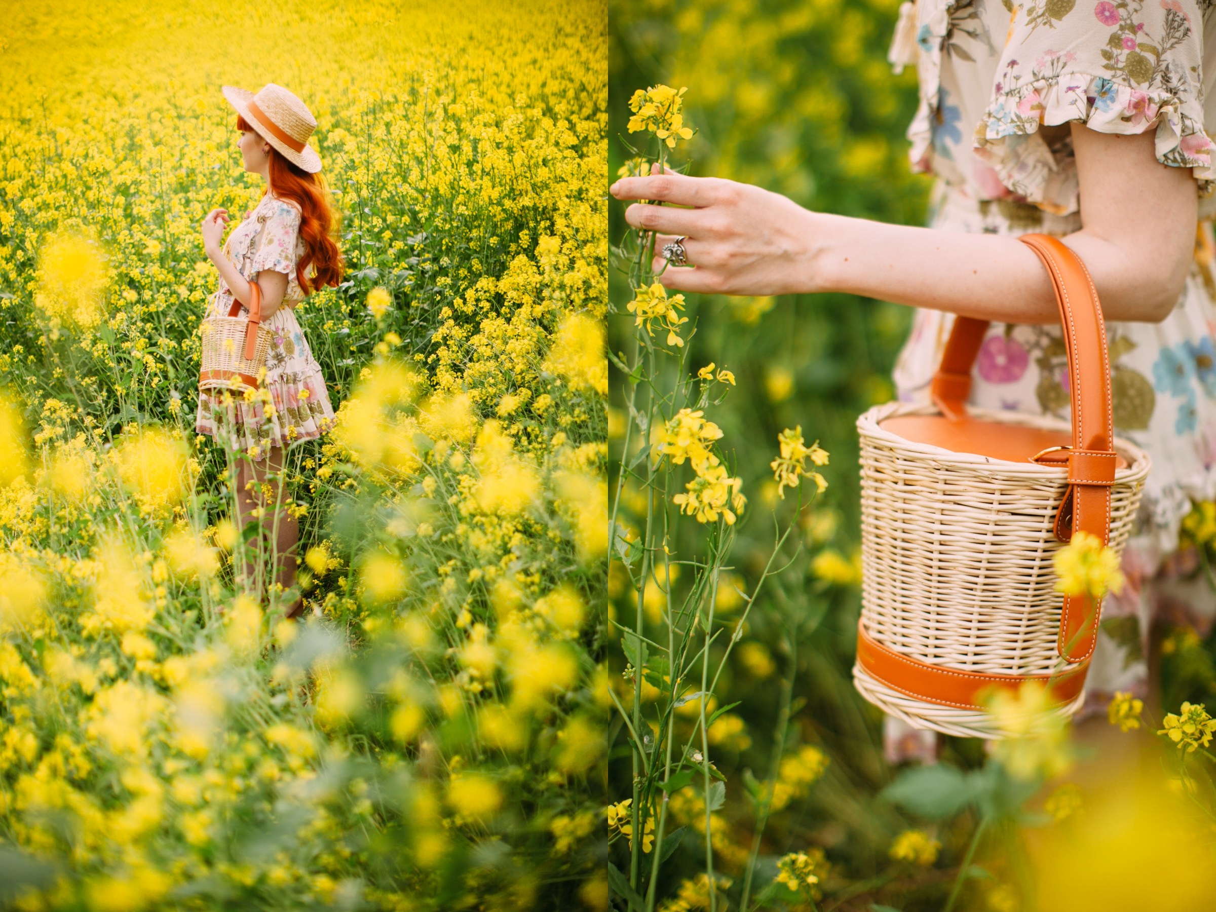 floral dress yellow field-2-side