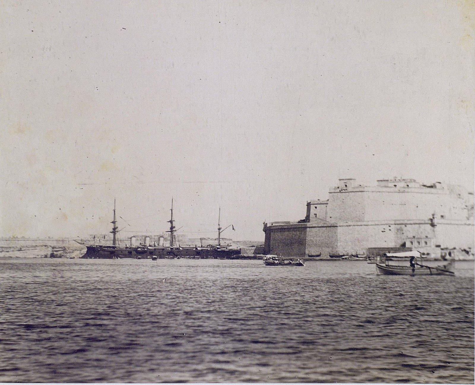1890. Фрегат «Память Азова» у острова Мальта