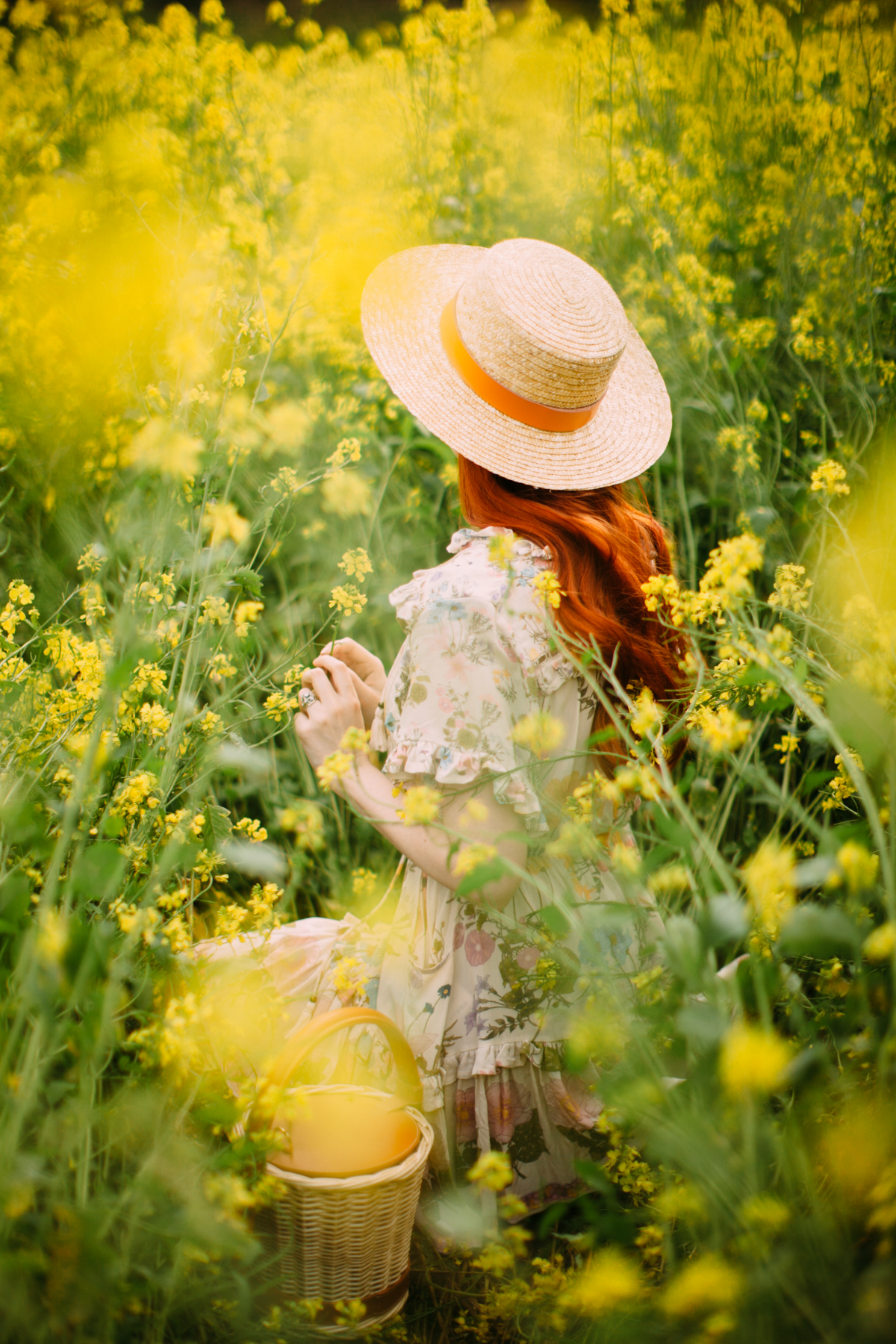 floral dress yellow field-33