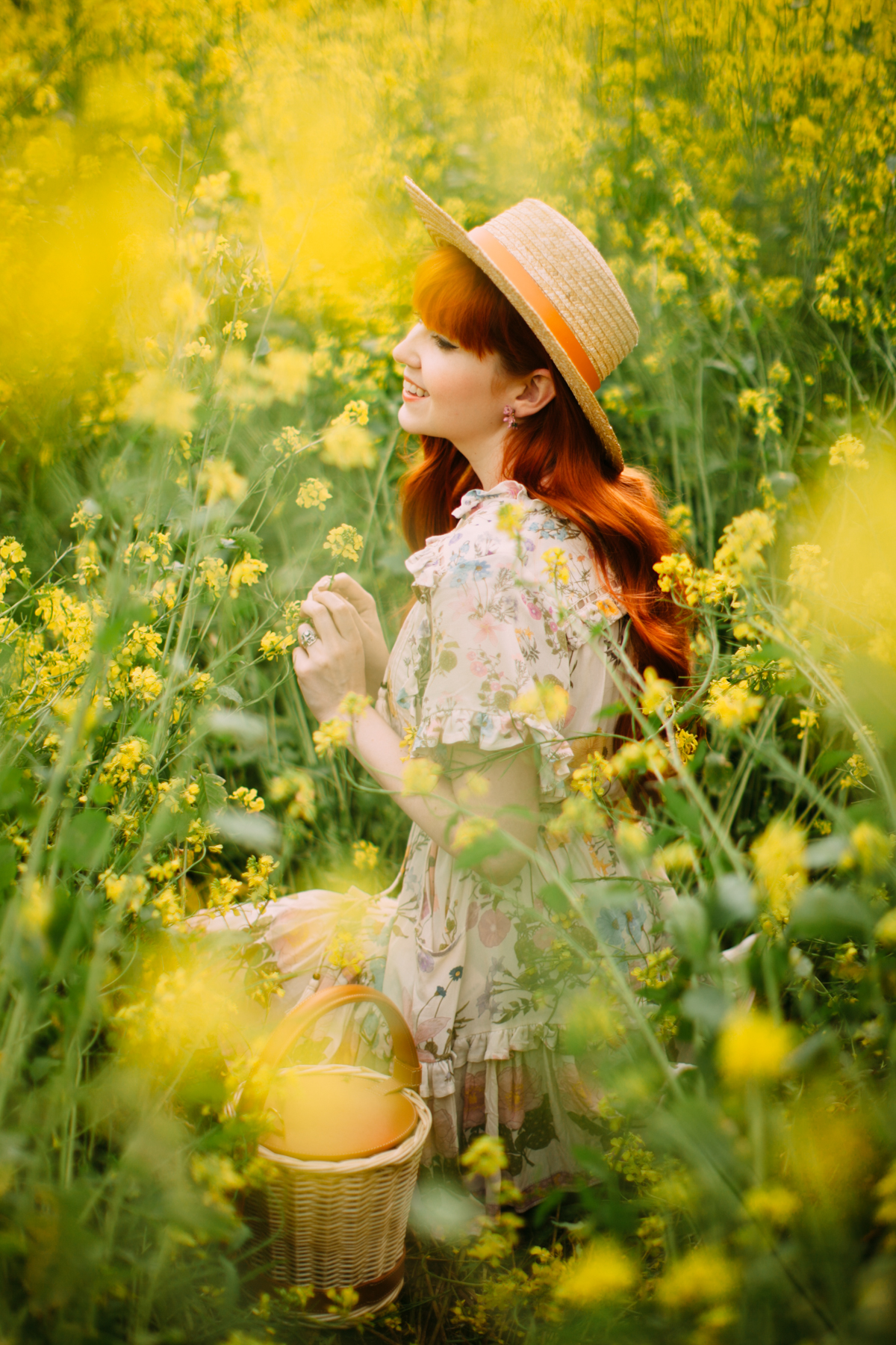 floral dress yellow field-32