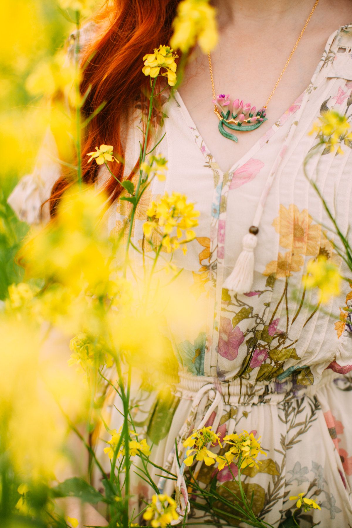 floral dress yellow field-8