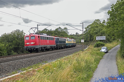 115 114 . DB + E 41 001 + 110 300 +  E 10 1239 . Altenbeken . 07.07.19.