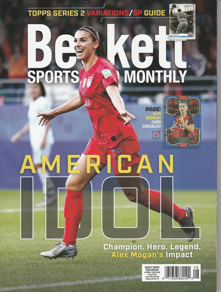 Details About August 2019 Beckett Sports Card Price Guide Magazine Vol 36 No 8 Alex Morgan