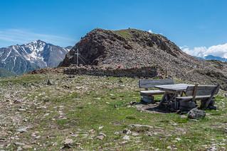 Tascheljöchl, 2770 m (Similaun im Hintergrund)