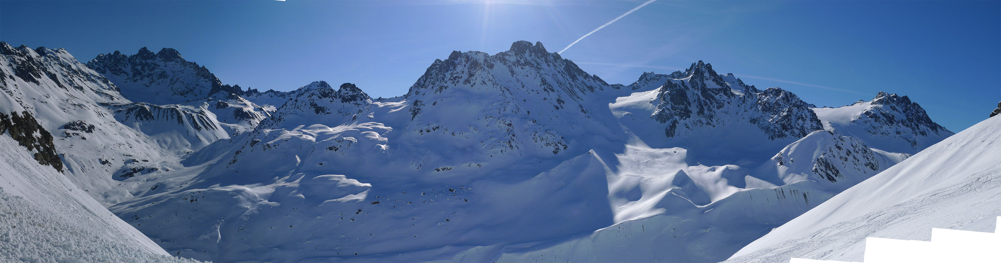 Haagspitze East (Jamtalhütte) Silvretta Rakousko panorama 09
