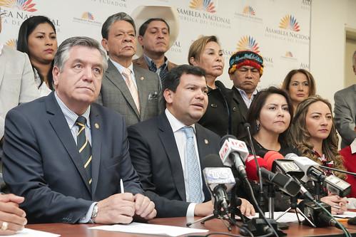 RUEDA DE PRENSA DEL PRESIDENTE DE LA ASAMBLEA NACIONAL, CÉSAR LITARDO, JUNTO A LA COALICIÓN NACIONAL. QUITO, 10 DE JULIO 2019.