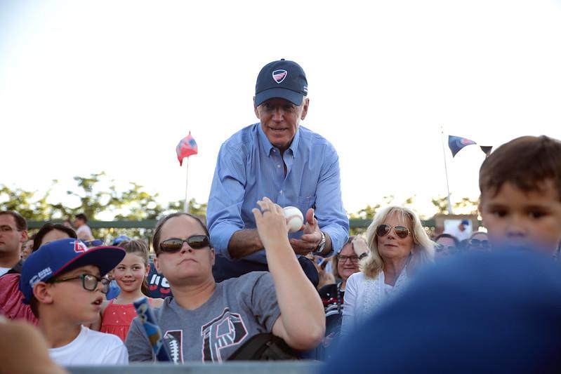 Joe Biden & Jill Biden with attendees