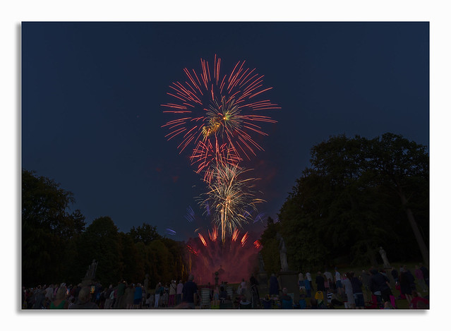 A day away at Chatsworth. Fireworks party.